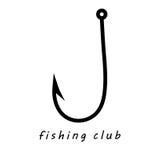 Логотип клуба рыбной ловли Стоковое фото RF
