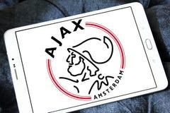 Логотип клуба футбола Ajax Амстердама Стоковое Изображение
