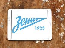 Логотип клуба футбола Zenit русский Стоковая Фотография