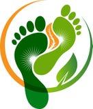 Логотип лист ноги Стоковые Изображения