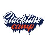 Логотип литерности лагеря Slackline Стоковое Фото