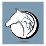 Логотип лошади, собаки и кошки Стоковые Фото