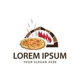 Логотип магазина пиццы стоковые изображения rf