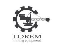 Логотип машины минирования или конструкции Стоковая Фотография