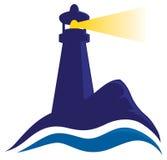 Логотип маяка иллюстрация вектора