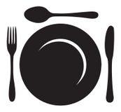 Логотип меню ресторана Стоковое Изображение