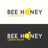 Логотип меда пчелы Стоковая Фотография RF