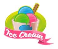 Логотип мороженого бесплатная иллюстрация