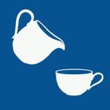 Логотип молока Стоковое Фото