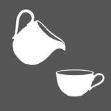 Логотип молока Стоковое Изображение RF