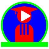 Логотип музыкальной школы Стоковые Фото
