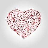 Логотип музыки сердца Стоковое фото RF