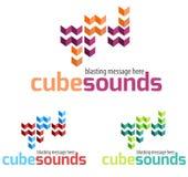 Логотип музыки Стоковые Изображения