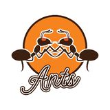 Логотип муравьев для дела или объекта животного, иллюстрации вектора стоковое фото