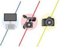 Логотип мультимедиа Стоковые Изображения RF