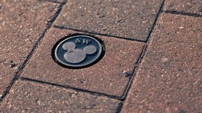 Логотип мыши Дисней Mickey пола стоковое фото rf