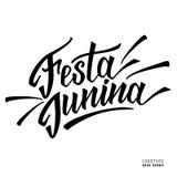 Логотип нарисованный рукой для фестиваля Festa Junina Стоковое Изображение RF