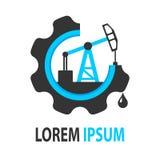 Логотип нефтяной компании синего масла стоковые изображения rf