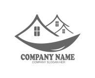 Логотип недвижимости уникально Стоковые Изображения