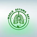 Логотип дня астмы Стоковое Изображение RF