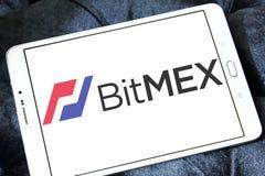 Логотип обменом cryptocurrency BitMEX Стоковые Фото