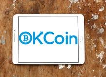 Логотип обменом OKCoin Стоковое фото RF
