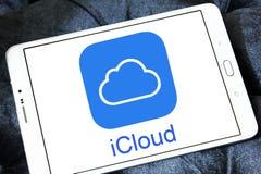 Логотип обслуживания ICloud Стоковое Фото