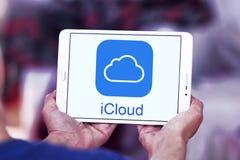 Логотип обслуживания ICloud Стоковая Фотография