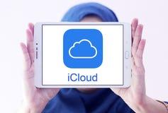 Логотип обслуживания ICloud Стоковое Изображение RF