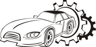 Логотип обслуживания автомобиля Стоковое Изображение RF