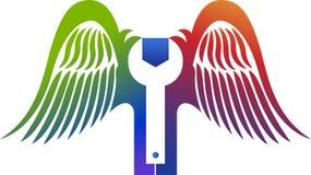 Логотип обслуживания мухы Стоковые Изображения