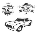 Логотип общины автомобиля мышцы Стоковые Изображения