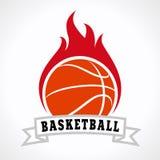 Логотип огня баскетбола Стоковое Изображение