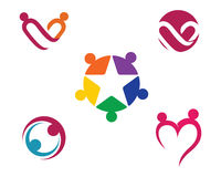 Логотип оказаних помощей Стоковое Изображение RF