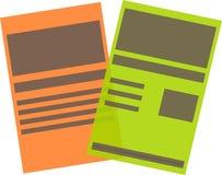 Логотип документа Стоковое Изображение RF