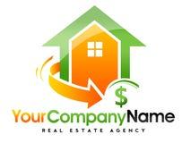 Логотип дома недвижимости Стоковая Фотография RF