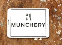 Логотип онлайн еды Munchery приказывая Стоковая Фотография RF