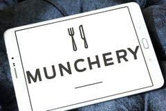 Логотип онлайн еды Munchery приказывая Стоковое Фото