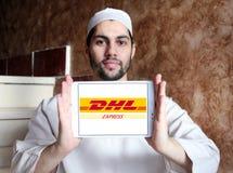 Логотип доставки DHL почтовый Стоковые Изображения RF