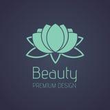 Логотип лотоса красоты Стоковые Фотографии RF