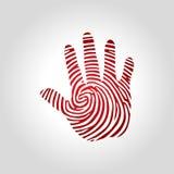 Логотип отпечатка пальцев руки Стоковое Изображение RF