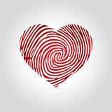 Логотип отпечатка пальцев сердца Стоковое Изображение