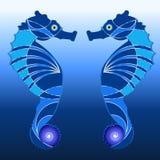 Логотип лошади моря иллюстрация штока