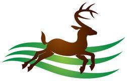 Логотип оленей Стоковые Фотографии RF
