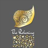 Логотип о расслабляющем дизайн-векторе Стоковые Фото