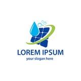 Логотип панели солнечных батарей чистки бесплатная иллюстрация