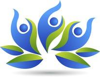 Логотип пар лотоса иллюстрация вектора