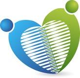 Логотип пар сердца Стоковая Фотография