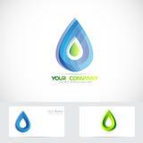 Логотип падения воды Стоковое Изображение