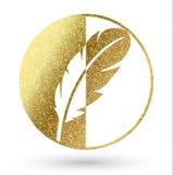 Логотип пера Стоковые Изображения RF